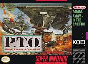 P.T.O. Pacific Theater of Operations Game - Super Nintendo (SNES)