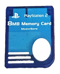 PlayStation 2 (PS2) 8MB Memory Card - Blue - OEM