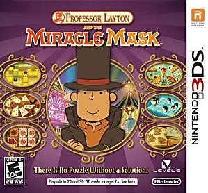 Professor Layton and the Miracle Mask Game - Nintendo 3DS - NEW