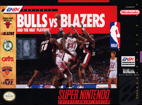 Bulls vs. Blazers and the NBA Playoffs Game - Super Nintendo (SNES)