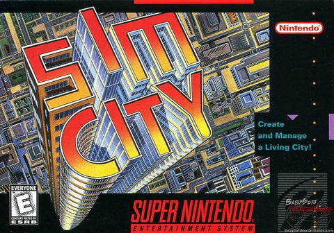 SimCity Game - Super Nintendo (SNES)