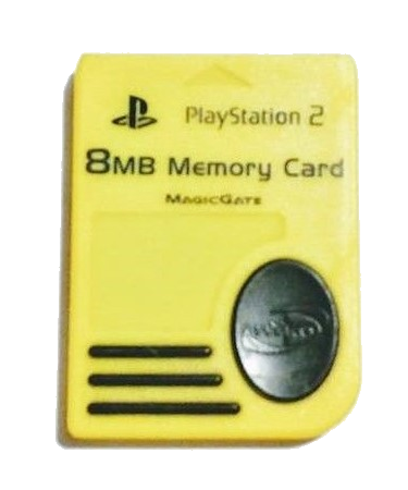PlayStation 2 (PS2) 8MB Memory Card - Yellow - OEM