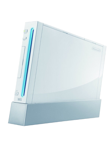 Nintendo Wii Console with Stand - White