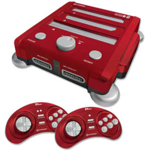 Hyperkin Retron 3 Console Bundle with 2 controllers - Red