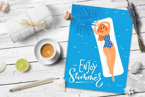 SUMMER POSTERS FREE DESIGN by Giraffarte