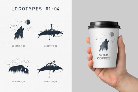 Double Exposure. 20 Creative Logos by Cosmic Store in Graphics  Illustrations