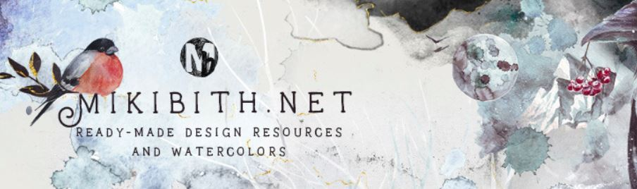 Mikibith ready made design resources and watercolors
