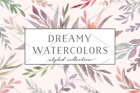 WATERCOLOR FLORA. DREAMY COLLECTION BY BANG BANG BUREAU