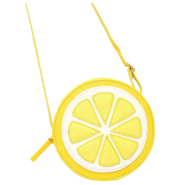 Colorful Round shoulder bag  - Lemon! | Flamingolandia