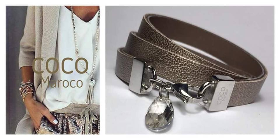 "Natural leather bracelet -    ""CM secret. Shine"" Coco Maroco,Bracelet 