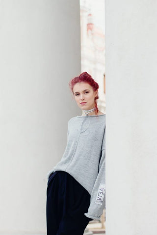 The minimalist merino wool sweater | VÉJA,knitted sweater | Women fashio shop|  Flamingolandia.online