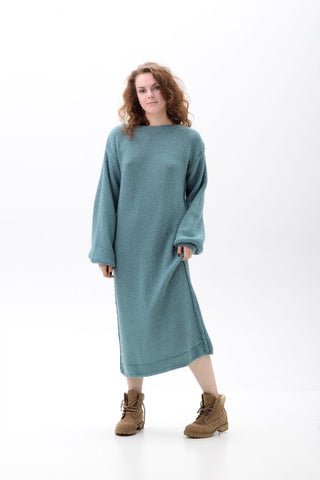 Warm long wool dress A Witch | VÉJA,knitted dress | Women fashio shop|  Flamingolandia.online