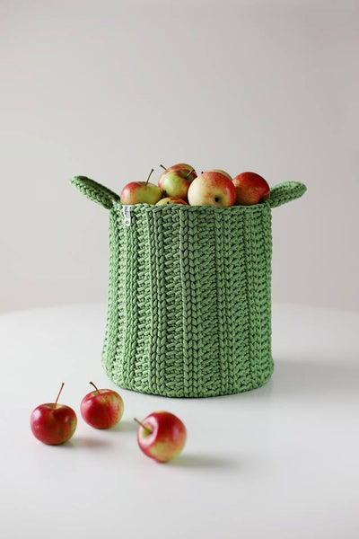 Rope croatched basket - Green Magic | Flamingolandia