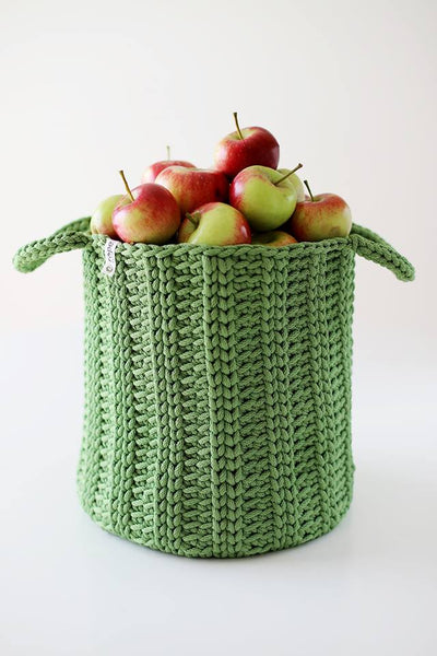 Rope croatched basket - Green Magic,basket | Women fashio shop|  Flamingolandia.online
