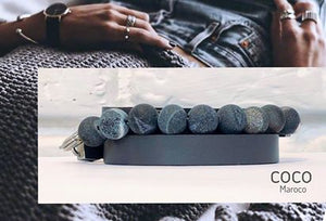 "Natural leather bracelet -    ""CM secret. Green Marble"" Coco MarocoBracelet - Flamingolandia.online"