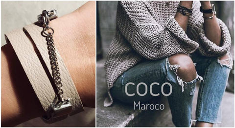 "Natural leather bracelet -    ""CM secret. Simple me "" Coco Maroco,Bracelet 