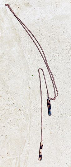 Narrow bar necklace TULUA | Flamingolandia