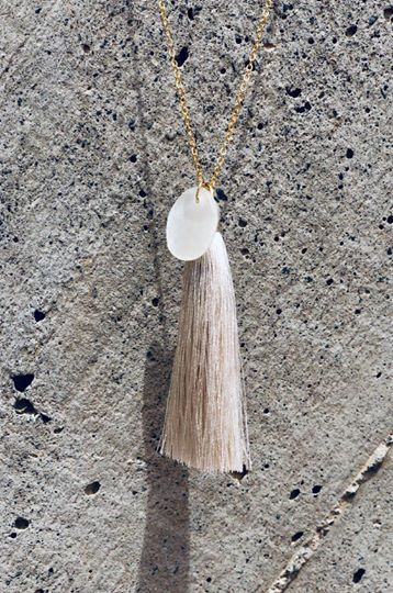 Pearl shell necklace necklace TULUA accessories | Flamingolandia