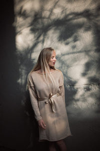 """Extraordinary"" – Merino Wool Dress sand 
