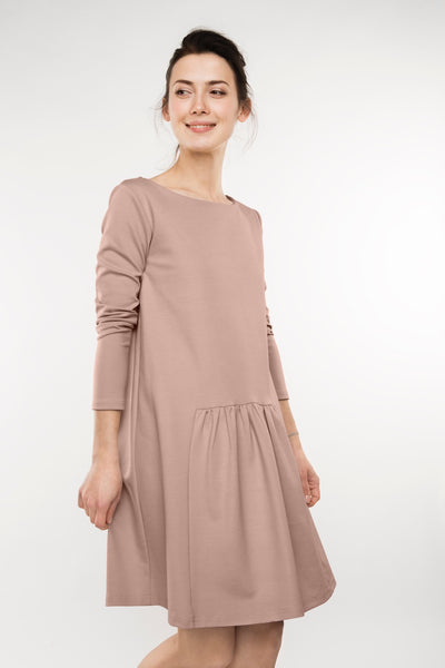 Nude simple dress MILK | Flamingolandia