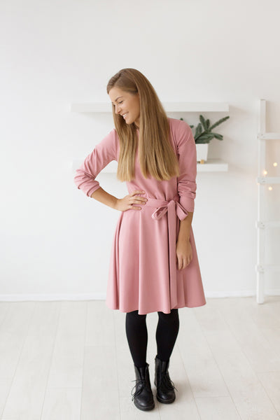Rose raspberry field dress | Flamingolandia