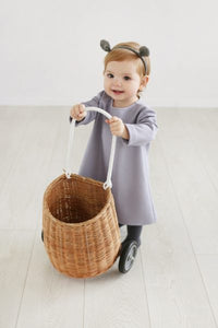 Little girl mouse dress - grey colorgirl dress - Flamingolandia.online