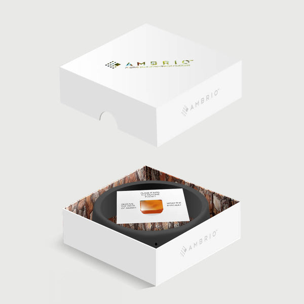 AMBRIO - Your unique amulet of luck - black bracelet with authentic amber | Flamingolandia