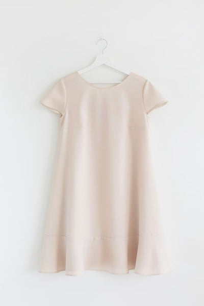 Bell song dress - warm coral color - Flamingolandia.online