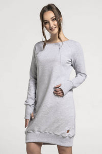 Nursing grey dress - Grey Joy!,breastfeeding dress | Women fashio shop|  Flamingolandia.online