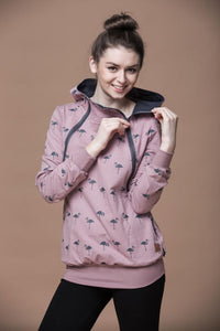 Breastfeeding cozy hoodie - The Flamingo family!,breastfeeding hoodie- Flamingolandia.online