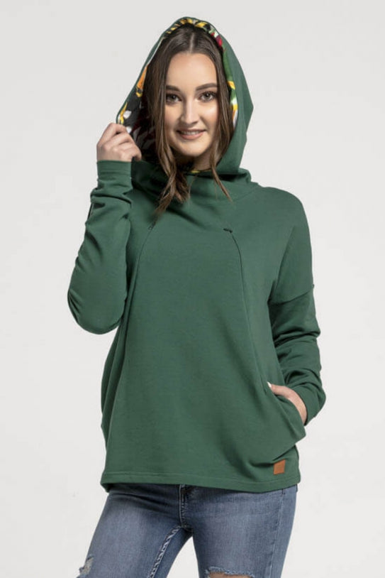 Nursing top hoodie - Green Jungle! | Flamingolandia