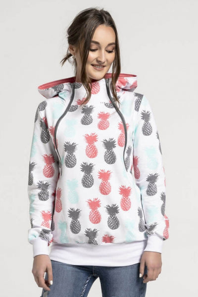 Breastfeeding cozy hoodie - PINEAPPLES! | Flamingolandia