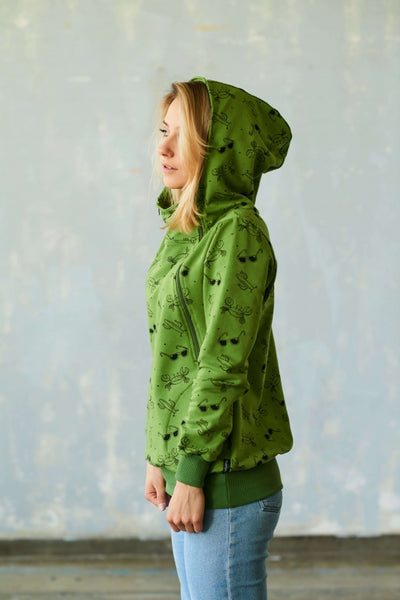 Breastfeeding  green hoodie - Summer! | Flamingolandia