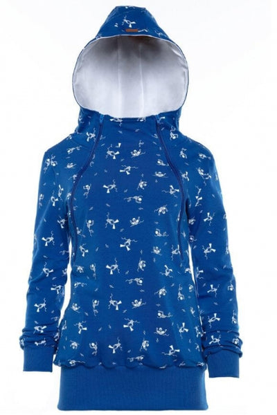 Breastfeeding blue hoodie - SWIMMER! | Flamingolandia