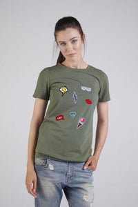 Breastfeeding T-shirt - KHAKI | Flamingolandia