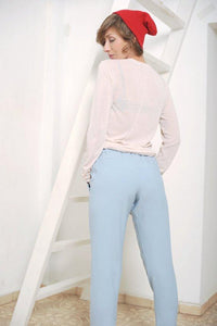 Casual elasticated waist Loose capri pants I   Whoosh,Pants- Flamingolandia.online