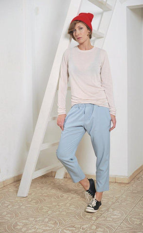 Casual elasticated waist Loose capri pants I   WhooshPants - Flamingolandia.online