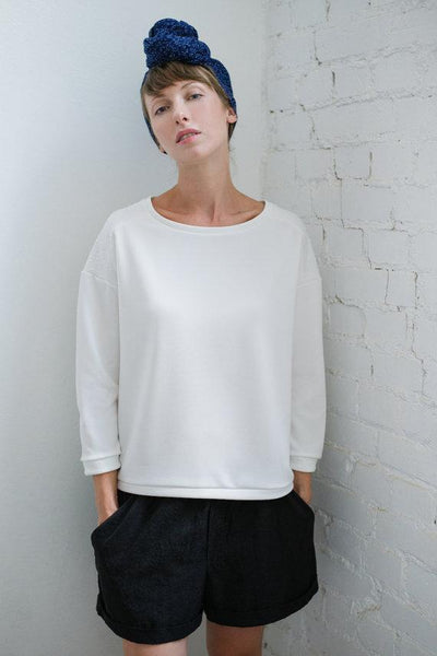 Casual top  blouse - Relaxed sponges Whoosh | Flamingolandia