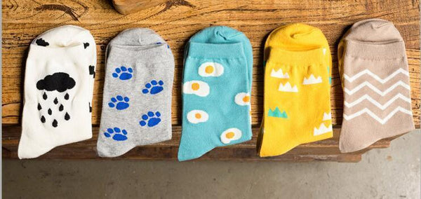 Cat lovers socks with blue cat prints!,Socks | Women fashio shop|  Flamingolandia.online