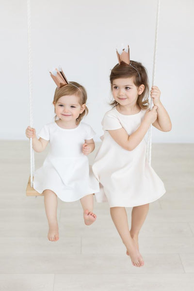 Christening dress - little leave dress | Flamingolandia