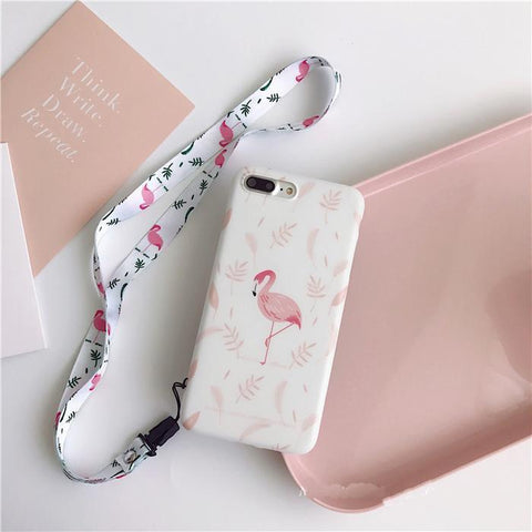 Cute flamingo in the  leaves  soft IMD phone case for iphone | Flamingolandia