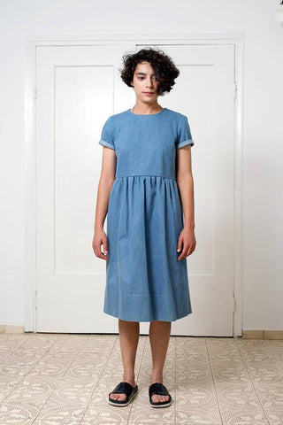 Denim light blue dress -  Whoosh,dress | Women fashio shop|  Flamingolandia.online