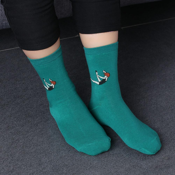 Electric color  Socks - Following girl - Flamingolandia.online