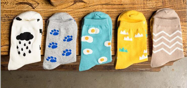 Funny casual sea blue socks with boiled eggs!,Socks | Women fashio shop|  Flamingolandia.online