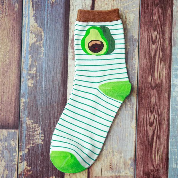 Green avocado socks to color Your days | Flamingolandia