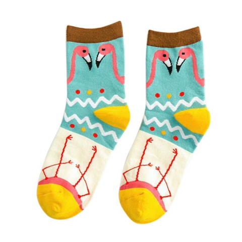 Happy flamingo socks - beautiful legs!,Socks- Flamingolandia.online