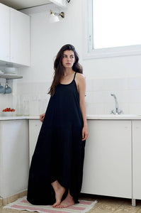 High low hem long summer dress  I  Black Tunic Whoosh,dress | Women fashio shop|  Flamingolandia.online