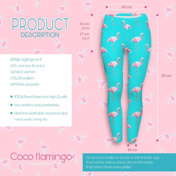 High Quality High Waist Woman Leggings - Light Blue & many flamingos,Leggings | Women fashio shop|  Flamingolandia.online