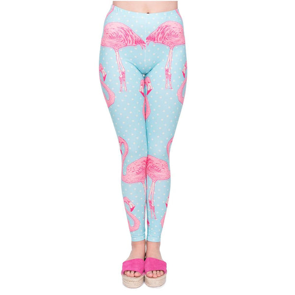 High Waist Leggings - Flamingo gang,Leggings | Women fashio shop|  Flamingolandia.online