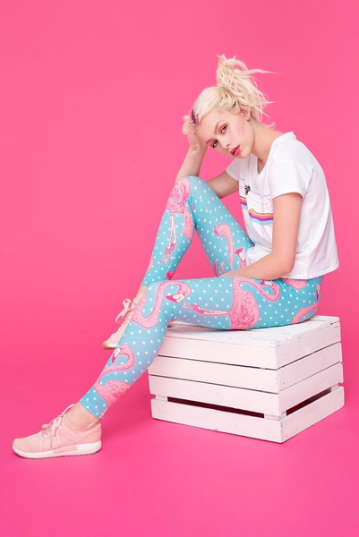 High Waist Leggings - Flamingo gang | Flamingolandia